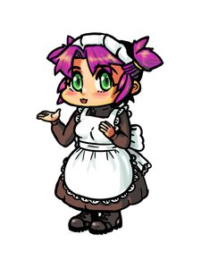 Rating: Safe Score: 0 Tags: apron chibi dress green_eyes maid maid_headdress maid_outfit purple_hair twintails unyl-chan User: (automatic)Anonymous