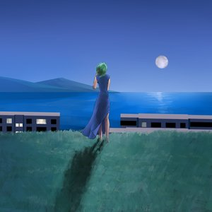 Rating: Safe Score: 0 Tags: f2d_(artist) from_behind full_moon green_hair moon night outdoors rusalochka sea sky water User: (automatic)nanodesu