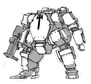 Rating: Safe Score: 0 Tags: cross dieselpunk gun mecha monochrome panzermeido_(artist) robot simple_background sketch User: (automatic)Willyfox