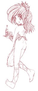 Rating: Explicit Score: 0 Tags: /an/ apron ass from_behind headdress maid monochrome naked_apron sketch tray User: (automatic)Anonymous