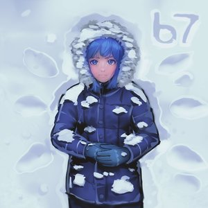 Rating: Safe Score: 0 Tags: blue_eyes blue_hair blush cirno footprints gloves hood jacket lying madskillz_thread_oppic snow User: (automatic)lol.me