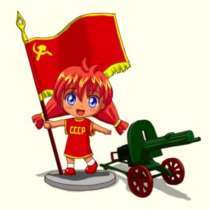 Rating: Safe Score: 0 Tags: blue_eyes chibi figure flag hudozhnik-kun_(artist) red_hair shirt simple_background smile soviet transparent_background t-shirt twintails ussr-tan weapon User: (automatic)Anonymous