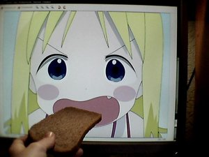 Rating: Safe Score: 0 Tags: 2d_dating ana_coppola blonde_hair blue_eyes blush blush_stickers bread computer fang food ichigo_mashimaro open_mouth photo User: (automatic)timewaitsfornoone