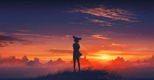 Rating: Safe Score: 0 Tags: atmospheric cloud outdoors silhouette sky sunset twintails unyl-chan User: (automatic)Anonymous