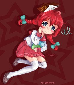Rating: Safe Score: 0 Tags: 1girl ahoge blue_eyes blush book braid character_request glasses long_hair /ls/ lucky_star red_hair school_uniform serafuku shoes skirt solo tagme thighhighs twin_braids zettai_ryouiki User: (automatic)Anonymous