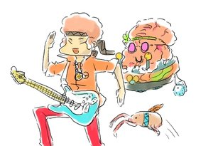 Rating: Safe Score: 0 Tags: alternate_costume alternate_hairstyle alternative bomb-kun_(artist) cosplay guitar half-life headcrab hippie instrument momo-tan orange_hair parody peach_hair running short_hair sketch tagme User: (automatic)nanodesu