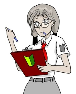 Rating: Safe Score: 0 Tags: glasses grey_eyes grey_hair grey_skin iie-chan long_hair madskillz mouth_hold necktie note pen pioneer pioneer_tie pioneer_uniform shirt simple_background skirt twintails wakaba_mark User: (automatic)nanodesu