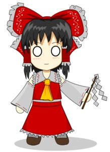 Rating: Safe Score: 0 Tags: 0_0 ascot black_hair blush bow chibi detached_sleeves hair_tubes hakurei_reimu long_hair miko miko_outfit necktie no_pupils sauce_(artist) simple_background skirt touhou vector User: (automatic)nanodesu