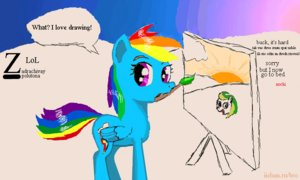 Rating: Safe Score: 0 Tags: animal /bro/ character_request collective_drawing crossover flockdraw iipony madskillz mare mascot multicolored_hair my_little_pony my_little_pony_friendship_is_magic no_humans pegasus pony rainbow_dash sketch style_parody tagme wakaba_colors wings User: (automatic)Anonymous