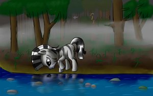 Rating: Safe Score: 0 Tags: animal /bro/ fim forest mare mist mlp mlp:fim multicolored_hair my_little_pony no_humans outdoors pony reflection tree water waterside zebra zecora User: (automatic)Anonymous