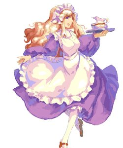 Rating: Safe Score: 0 Tags: apron cup dress long_hair maid maid_headdress maid_outfit /o/ oekaki orange_hair purple_eyes simple_background white_background User: (automatic)nanodesu