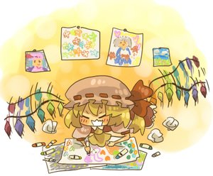 Rating: Safe Score: 0 Tags: blonde_hair blush bow chibi child_drawing crayon flandre_scarlet happy hat lowres madskillz_thread_oppic touhou wings User: (automatic)lol.me