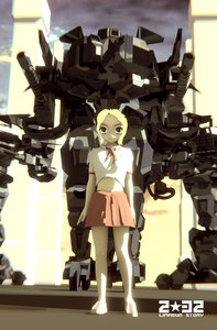Rating: Safe Score: 0 Tags: 2032 3d blonde_hair blue_eyes mecha necktie pioneer_necktie sci-fi shirt short_hair skirt svetlana_limaeva User: (automatic)Anonymous