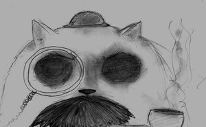 Rating: Safe Score: 0 Tags: cat hat monochrome monocle no_humans pipe sketch smoking traditional_media zlokot User: (automatic)Anonymous