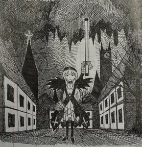 Rating: Safe Score: 0 Tags: city headdress lamp lolita_fashion monochrome outdoors pun rozen_maiden suigintou traditional_media wings User: (automatic)Anonymous