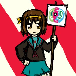 Rating: Safe Score: 0 Tags: brown_hair chibi hair_ribbon orange_eyes ribbon sauce_(artist) school_uniform short_hair sketch suzumiya_haruhi_no_yuuutsu User: (automatic)nanodesu
