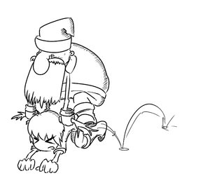 Rating: Safe Score: 0 Tags: >_< adult all_fours antlers beard chibi co_(artist) deer hat horns male monochrome mustache olen-tan santa_klaus simple_background sitting_on_person sketch winter_clothes User: (automatic)nanodesu