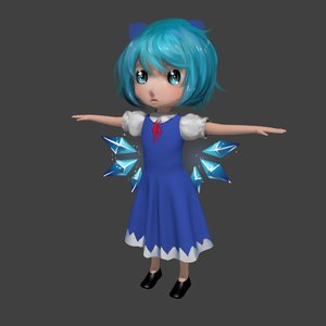 Rating: Safe Score: 0 Tags: 1girl 3d blue_eyes blue_hair bow cirno dress grey_background short_hair simple_background solo spread_arms touhou wings User: (automatic)Anonymous
