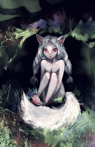 Rating: Safe Score: 0 Tags: 1girl animal_ears braid flat_chest fox_ears fox_tail leg_hug long_hair nude pale_skin possible_duplicate red_eyes silver_hair sitting solo tail twin_braids User: (automatic)Anonymous