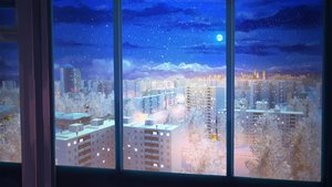 Rating: Safe Score: 0 Tags: background city cityscape eroge highres house moon night no_humans sky snow tree window winter User: (automatic)Anonymous