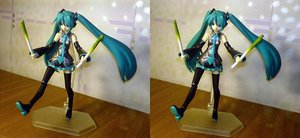 Rating: Safe Score: 0 Tags: aqua_hair blue_eyes detached_sleeves figure hatsune_miku long_hair photo spring_onion stereogram twintails vocaloid User: (automatic)nanodesu