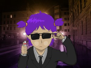Rating: Safe Score: 0 Tags: business_suit glasses men_in_black parody photo photoshop purple_hair sunglasses twintails unyl-chan User: (automatic)nanodesu