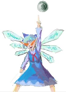 Rating: Safe Score: 0 Tags: ⑨ blue_hair bow cirno dress glasses kamina_shades parody tengen_toppa_gurren_lagann touhou wings User: (automatic)timewaitsfornoone