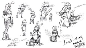 Rating: Safe Score: 0 Tags: ahoge animal_ears anonymous bare_shoulders beer bomb-chan bomb-kun bomb-kun_(artist) boots bottle braid bunny_ears bunnygirl bunnysuit chibi collider-sama cup glasses long_hair monochrome pantyhose ponytail simple_background sketch smile tail twin_braids un-chan User: (automatic)nanodesu