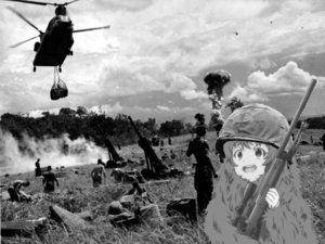 Rating: Safe Score: 0 Tags: helmet hinata_yachiyo military monochrome photo photoshop tokurei_sochi_dantai_stella_jogakuin_c3_bu vietnam weapon User: (automatic)Anonymous