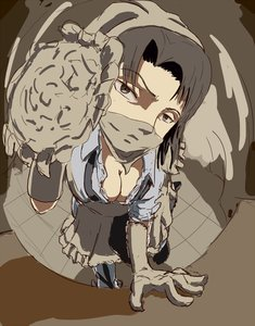 Rating: Questionable Score: 0 Tags: against_glass bandanna bandanna_over_mouth black_eyes black_hair breasts cleavage genderswap gloves levi perspective shingeki_no_kyojin smile User: (automatic)Anonymous