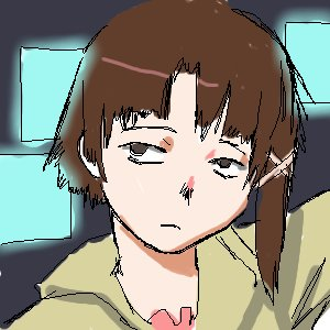 Rating: Safe Score: 1 Tags: :< brown_hair hairpin iwakura_lain male /o/ oekaki serial_experiments_lain short_hair sketch User: (automatic)nanodesu