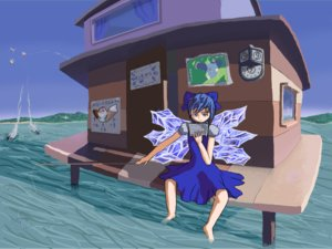 Rating: Safe Score: 0 Tags: ⑨ barefoot b-fractal_(artist) bizarre blue_eyes blue_hair bow cirno daiyousei fairy fishing house landscape luna_child madskillz map note poster reading short_hair sitting sketch skirt tagme torpedo touhou water User: (automatic)Willyfox
