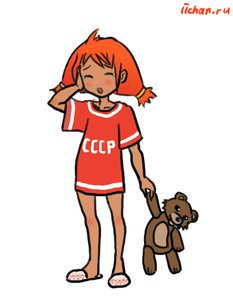 Rating: Safe Score: 0 Tags: blush closed_eyes hands_on_head pedobear red_hair rudik_(artist) shirt simple_background tears toy t-shirt twintails ussr-tan yawning User: (automatic)nanodesu