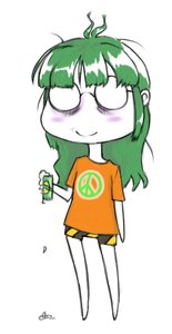 Rating: Safe Score: 0 Tags: ahoge beer bomb-chan bomb-kun_(artist) chibi glasses green_hair long_hair shirt simple_background t-shirt User: (automatic)nanodesu