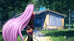 Rating: Safe Score: 0 Tags: 1girl 3d arsenixc_(artist) ass bare_shoulders chain eroge fate/stay_night female from_behind grass holding_weapon house hudozhnik-kun_(artist) lantern long_hair nail photoshop purple_hair rider solo street_lantern text tree very_long_hair wakaba_mark weapon window zettai_ryouiki User: (automatic)Willyfox