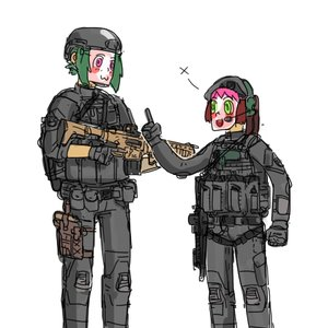 Rating: Safe Score: 0 Tags: bomb-chan bomb-kun_(artist) cute mask military military_uniform weapon User: (automatic)Anonymous