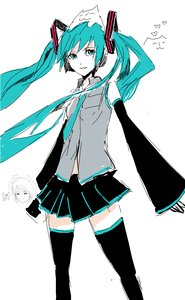 Rating: Safe Score: 0 Tags: ahoge animal aqua_eyes aqua_hair arsenixc_(artist) cat detached_sleeves hatsune_miku long_hair necktie oekaki simple_background sketch skirt thighhighs twintails vocaloid zettai_ryouiki User: (automatic)Anonymous