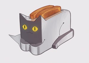 Rating: Safe Score: 0 Tags: bread cat no_humans pun toast toaster User: (automatic)Anonymous