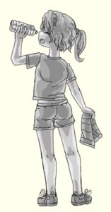 Rating: Explicit Score: 0 Tags: ^_^ 1girl ass bare_legs bottle drinking from_behind loli monochrome open_mouth ponytail shirt shorts sketch solo towel transparent_background t-shirt User: (automatic)Willyfox