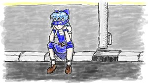 Rating: Questionable Score: 0 Tags: blue_eyes blue_hair cirno mask sad tagme User: (automatic)Anonymous