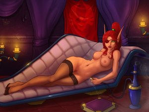 Rating: Explicit Score: 0 Tags: book breasts candle elf eye_patch green_eyes hookah long_hair lying nude pointy_ears ponytail pubic_hair red_hair room smoke smoking sofa thighhighs warcraft world_of_warcraft User: (automatic)Anonymous