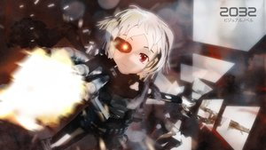 Rating: Safe Score: 0 Tags: 2032 3d armor asgu fire glowing_eyes gun highres looking_at_viewer pioneer_necktie red_eyes sci-fi short_hair wallpaper weapon white_hair User: (automatic)Anonymous