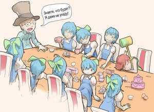 Rating: Safe Score: 0 Tags: 1boy :3 6+girls artist_request bahnammer banhammer-tan bow cake chair cirno closed_eyes cup drinking dual_persona eating glasses hat long_hair male multiple_girls multiple_person nofap open_mouth shirt short_hair simple_background sleeping spoon table text wakaba_mark User: (automatic)Willyfox