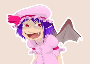 Rating: Safe Score: 0 Tags: evil_smile grin hat purple_hair red_eyes remilia_scarlet short_hair simple_background tagme touhou wings User: (automatic)monat