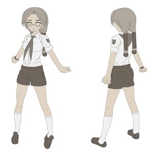Rating: Safe Score: 0 Tags: glasses iie-chan lolwoot_(artist) long_hair monochrome necktie pioneer pioneer_tie shirt shorts simple_background socks twintails wristwatch User: (automatic)nanodesu
