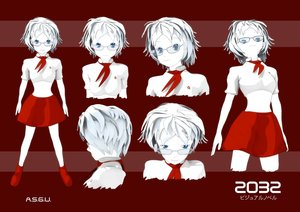 Rating: Safe Score: 0 Tags: 2032 3d asgu blue_eyes character_sheet concept_art glasses midriff pioneer_necktie shirt short_hair skirt white_hair User: (automatic)Anonymous