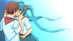 Rating: Safe Score: 0 Tags: aqua_eyes aqua_hair brown_hair eroge game_cg hatsune_miku hatsune_miku_(eroge) highres holding_hands kiss long_hair male necktie pioneer pioneer_necktie pioneer_uniform semyon_(character) shirt short_hair twintails very_long_hair vocaloid User: (automatic)Anonymous