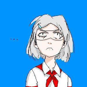 Rating: Safe Score: 0 Tags: :< ... 2032 asgu glasses grey_hair hairpin madskillz necktie pioneer_tie shirt simple_background sky visor User: (automatic)timewaitsfornoone