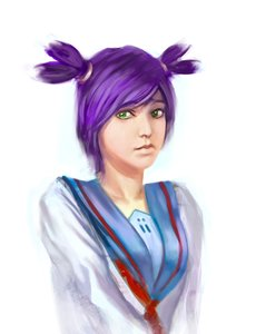 Rating: Safe Score: 0 Tags: green_eyes lips purple_hair realistic school_uniform /tan/ tears twintails unyl-chan User: (automatic)timewaitsfornoone
