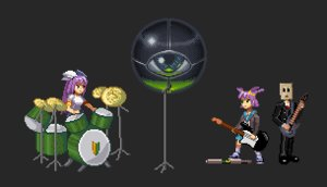 Rating: Safe Score: 0 Tags: anonymous bag_on_head business_suit drum guitar guitar_hero iichantra instrument microphone music parody pixel_art purple_hair school_uniform soh-chan twintails unyl-chan wakaba_mark User: (automatic)nanodesu
